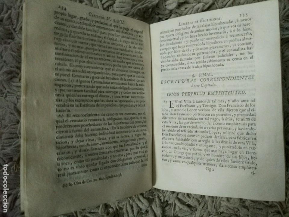 Libros antiguos: Librería de Escribanos. Tomo II. En Pergamino. 1774 Joseph Febrero - Foto 4 - 106773387