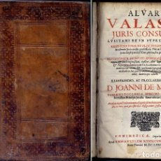 Libros antiguos: VAZ Ó VALASCO, A. QUAESTIONUM JURIS EMPHYTEUTICI LIBER PRIMUS, SEU PRIMA PARS. REPERIENTUR... 1682.. Lote 106997795