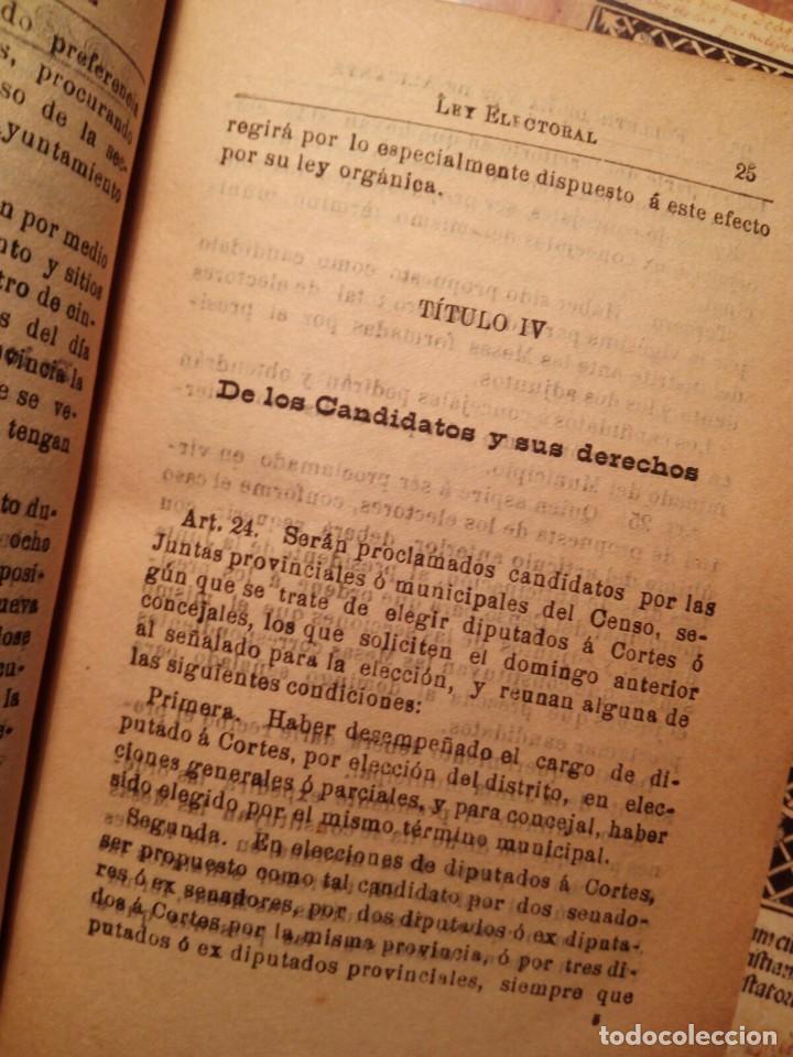 Libros antiguos: LEY ELECTORAL DIPUTADOS A CORTES - ALICANTE 1907 - EDITA LA VOZ DE ALICANTE - RARO EN COMERCIO - Foto 4 - 107487787