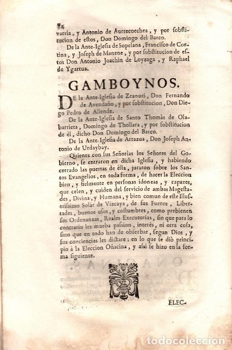 Libros antiguos: ACUERDOS DE JUNTAS GENERALES DE ESTE M.N. Y M.L. SEÑORIO DE VIZCAYA CELEBRADOS EN GUERNICA. 1760 - Foto 6 - 108041770