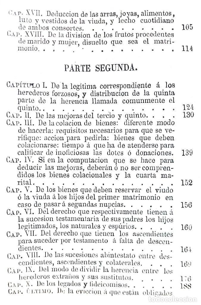 Libros antiguos: MANUAL TEÓRICO-PRÁCTICO DE LOS JUICIOS DE INVENTARIO // EUGENIO DE TAPIA // ((1872)) - Foto 4 - 108771575
