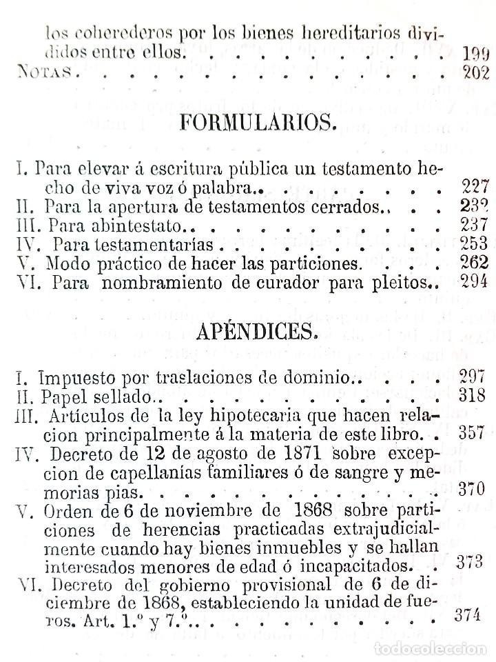 Libros antiguos: MANUAL TEÓRICO-PRÁCTICO DE LOS JUICIOS DE INVENTARIO // EUGENIO DE TAPIA // ((1872)) - Foto 5 - 108771575