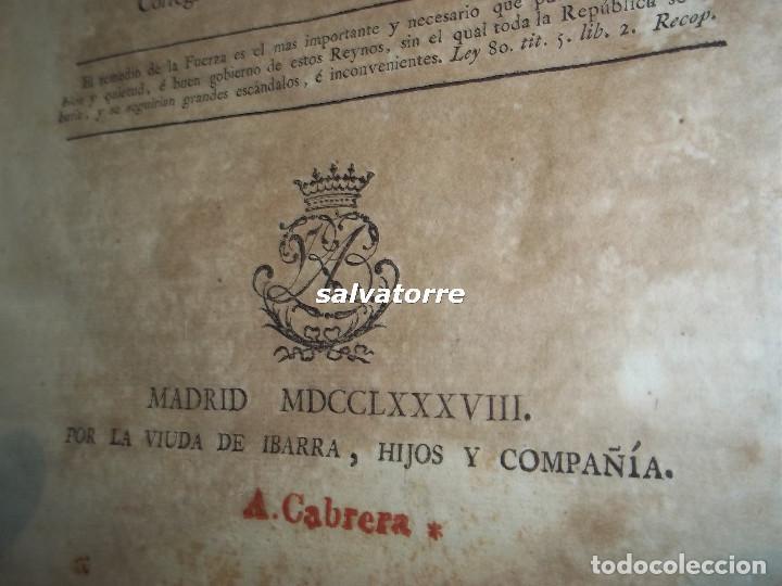 Libros antiguos: JOSE DE COVARRUBIAS.MAXIMAS SOBRE RECURSOS DE FUERZA Y PROTECCION.TRIBUNALES.1788 - Foto 3 - 108909611