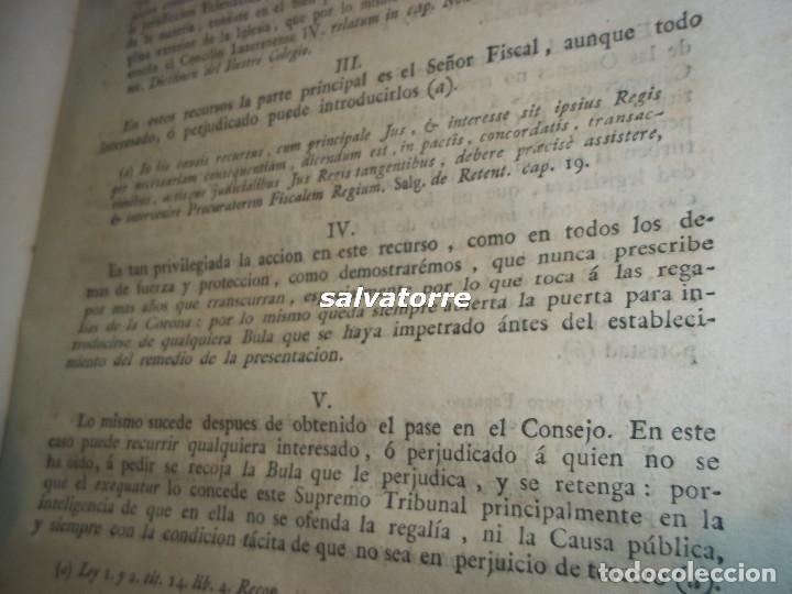 Libros antiguos: JOSE DE COVARRUBIAS.MAXIMAS SOBRE RECURSOS DE FUERZA Y PROTECCION.TRIBUNALES.1788 - Foto 10 - 108909611