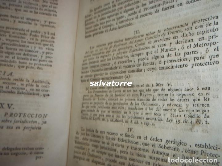 Libros antiguos: JOSE DE COVARRUBIAS.MAXIMAS SOBRE RECURSOS DE FUERZA Y PROTECCION.TRIBUNALES.1788 - Foto 12 - 108909611