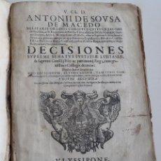 Libros antiguos: LISBOA 1677 * DECISIONES DEL SENADOR DE JUSTICIA DE PORTUGAL * ANTONIO DE SOUSA DE MACEDO. Lote 109143083