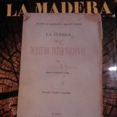 Libros antiguos: SUMNER MAINE: LA GUERRA SEGÚN EL DERECHO INTERNACIONAL (MADRID, HACIA 1895). Lote 109299463