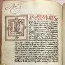 Libros antiguos: [PROCESO Y CARTA EJECUTORIA A FAVOR DE ANDRÉS DE LA PARRILLA Y SUS HIJOS, DE ALBADALEJO DEL CUENDE].. Lote 109485383