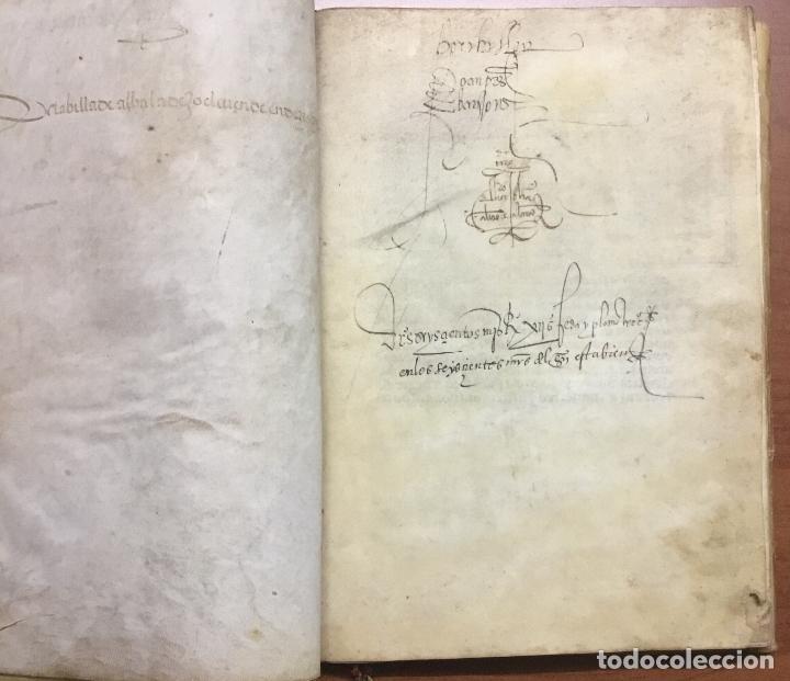 Libros antiguos: [PROCESO Y CARTA EJECUTORIA A FAVOR DE ANDRÉS DE LA PARRILLA Y SUS HIJOS, DE ALBADALEJO DEL CUENDE]. - Foto 2 - 109485383