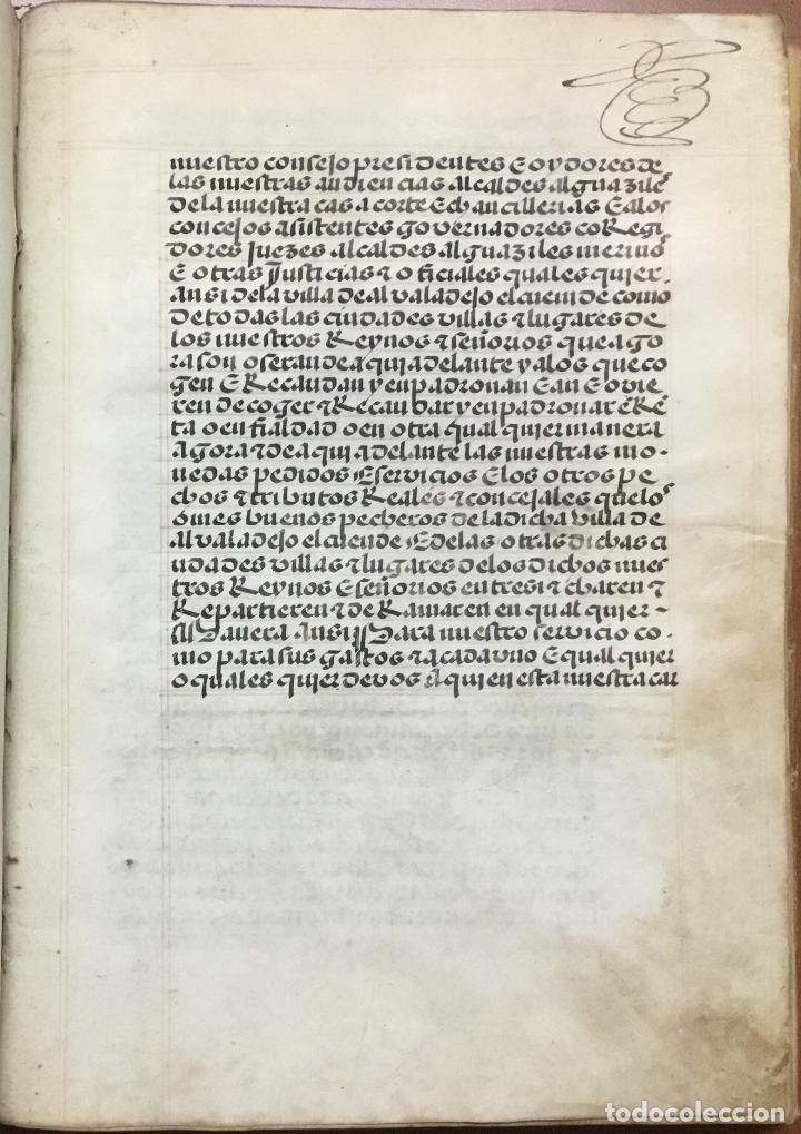 Libros antiguos: [PROCESO Y CARTA EJECUTORIA A FAVOR DE ANDRÉS DE LA PARRILLA Y SUS HIJOS, DE ALBADALEJO DEL CUENDE]. - Foto 3 - 109485383