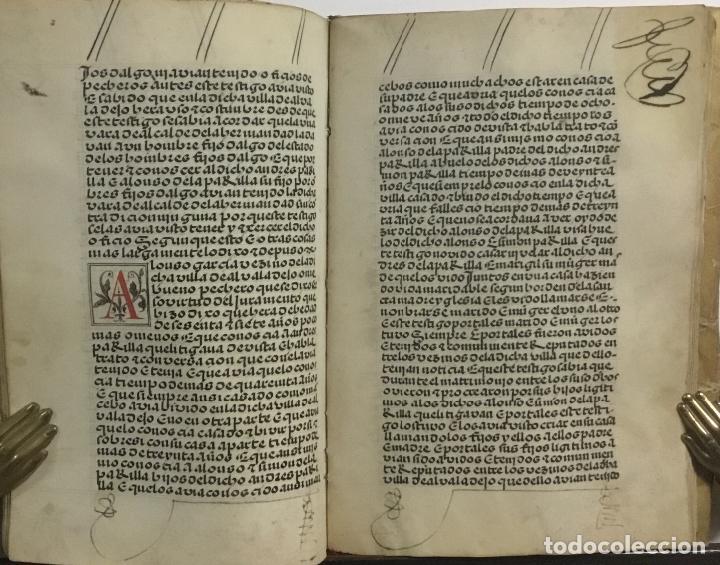 Libros antiguos: [PROCESO Y CARTA EJECUTORIA A FAVOR DE ANDRÉS DE LA PARRILLA Y SUS HIJOS, DE ALBADALEJO DEL CUENDE]. - Foto 4 - 109485383