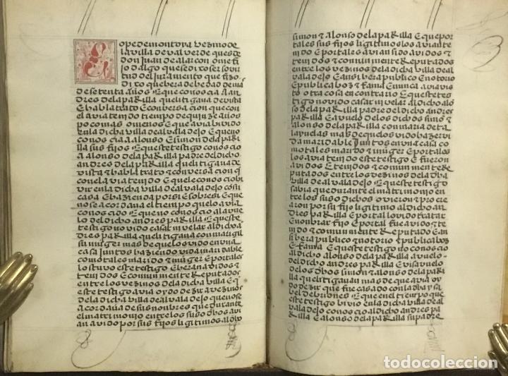 Libros antiguos: [PROCESO Y CARTA EJECUTORIA A FAVOR DE ANDRÉS DE LA PARRILLA Y SUS HIJOS, DE ALBADALEJO DEL CUENDE]. - Foto 5 - 109485383