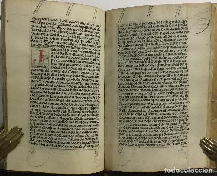 Libros antiguos: [PROCESO Y CARTA EJECUTORIA A FAVOR DE ANDRÉS DE LA PARRILLA Y SUS HIJOS, DE ALBADALEJO DEL CUENDE]. - Foto 6 - 109485383