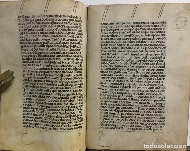 Libros antiguos: [PROCESO Y CARTA EJECUTORIA A FAVOR DE ANDRÉS DE LA PARRILLA Y SUS HIJOS, DE ALBADALEJO DEL CUENDE]. - Foto 7 - 109485383