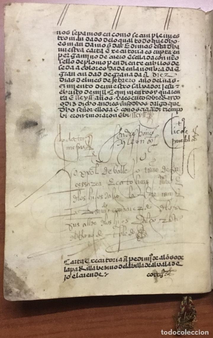 Libros antiguos: [PROCESO Y CARTA EJECUTORIA A FAVOR DE ANDRÉS DE LA PARRILLA Y SUS HIJOS, DE ALBADALEJO DEL CUENDE]. - Foto 8 - 109485383