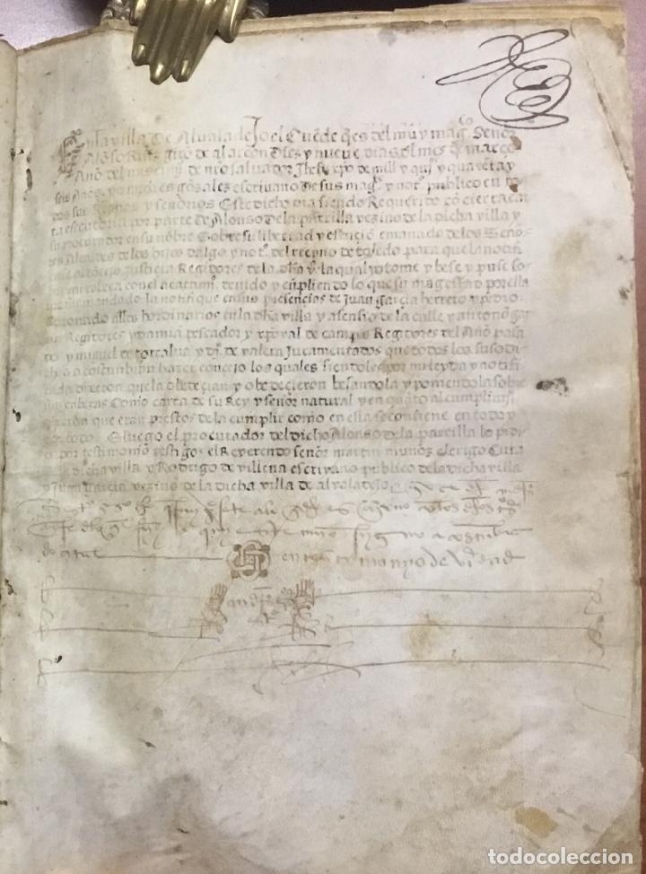 Libros antiguos: [PROCESO Y CARTA EJECUTORIA A FAVOR DE ANDRÉS DE LA PARRILLA Y SUS HIJOS, DE ALBADALEJO DEL CUENDE]. - Foto 9 - 109485383