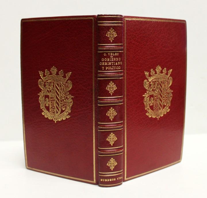 GOVIERNO CHRISTIANO Y POLITICO. - VELEZ LADRON DE GUEVARA, CRISTÓBAL. [ENC. BRUGALLA.] (Libros Antiguos, Raros y Curiosos - Ciencias, Manuales y Oficios - Derecho, Economía y Comercio)