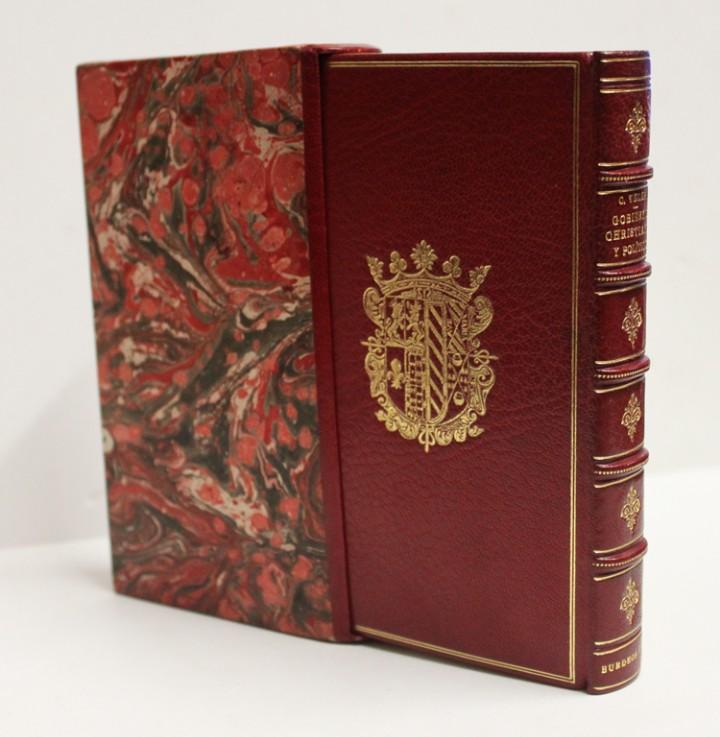 Libros antiguos: GOVIERNO CHRISTIANO Y POLITICO. - VELEZ LADRON DE GUEVARA, Cristóbal. [ENC. BRUGALLA.] - Foto 2 - 109023555