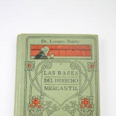 Libros antiguos: LIBRO - MANUALES GALLACH Nº 34 LAS BASES DEL DERECHO MERCANTIL - EDIT, MANUEL SOLER - AÑOS 20. Lote 111325819