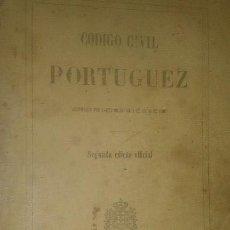 Libros antiguos: SEGUNDA EDICIÓN CÓDIGO CIVIL PORTUGUES. IMPRENTA NACIONAL 1867. Lote 111578879