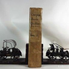 Libros antiguos: CORPUS JURIS CIVILIS ROMANI. TOMUS PRIMUS. FRATRUM CRAMER. MDCCLVI.. Lote 112320175