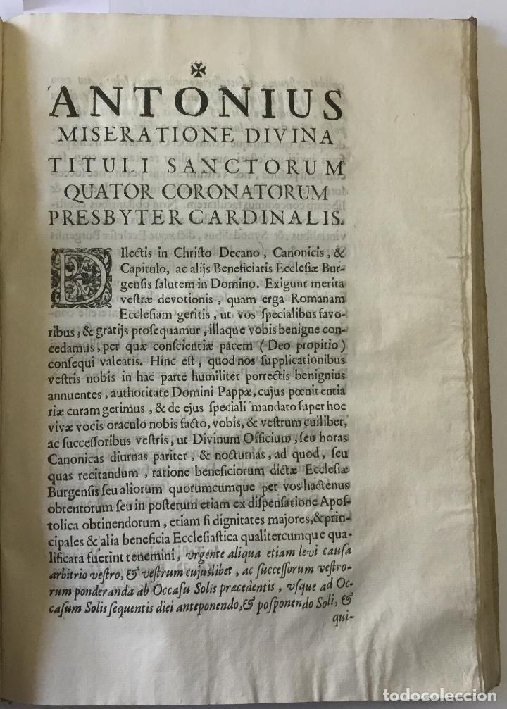 Libros antiguos: COMPENDIO DE LOS ESTATUTOS DE ESTA SANTA IGLESIA METROPOLITANA DE BURGOS, HECHOS EL AÑO DE MIL Y QUI - Foto 4 - 112436459