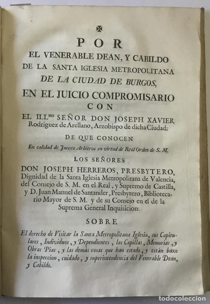 Libros antiguos: COMPENDIO DE LOS ESTATUTOS DE ESTA SANTA IGLESIA METROPOLITANA DE BURGOS, HECHOS EL AÑO DE MIL Y QUI - Foto 5 - 112436459