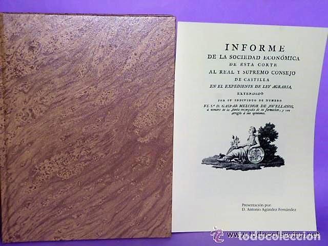 Libros antiguos: INFORME DE LEY AGRARIA (FACSÍMIL+LIBRETO DE PRESENTACIÓN.) - Foto 3 - 112744627