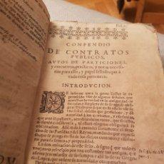 Libros antiguos: COMPENDIO DE CONTRATOS PÚBLICOS. MANUEL DE MOXICA. Lote 112752472