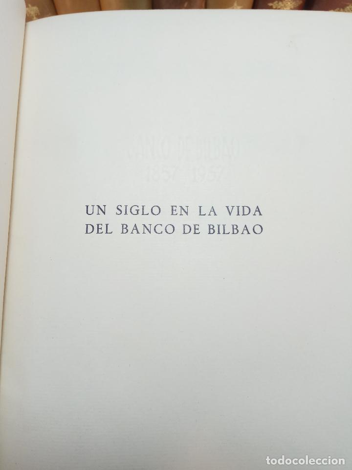 Libros antiguos: UN SIGLO EN LA VIDA DEL BANCO DE BILBAO - PRIMER CENTENARIO (1857-1957) - BILBAO - 1957 - - Foto 4 - 113260739