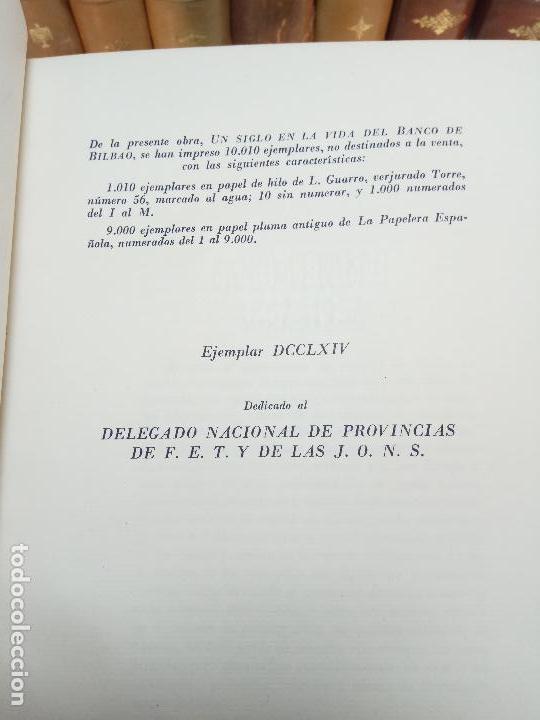 Libros antiguos: UN SIGLO EN LA VIDA DEL BANCO DE BILBAO - PRIMER CENTENARIO (1857-1957) - BILBAO - 1957 - - Foto 6 - 113260739