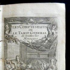 Libros antiguos: 1719 - LIBRO ANTIGUO DE ECONOMÍA - CONTABILIDAD - MEDIDAS - MONEDAS - GRABADO - SIGLO XVIII - PIEL. Lote 113360623