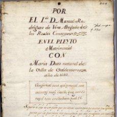 Libros antiguos: RODRIGUEZ, MANUEL. POR EL LICENCIADO DON ..., ABOGADO DE LOS REALES CONSEJOS, EN EL PLEYTO... 1693.. Lote 113654395