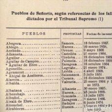 Libros antiguos: G. ORMAECHEA : ESTUDIO DE LEGISLACIÓN Y JURISPRUDENCIA SOBRE SEÑORÍOS. (PUEBLOS CON SEÑORIOS 1932 . Lote 114083367