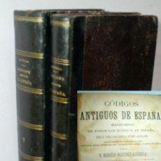 Libros antiguos: CODIGOS ANTIGUOS DE ESPAÑA. COLECCIÓN COMPLETA LOS CODIGOS ESPAÑA DESDE FUERO JUZGO. 1885. Lote 114544231