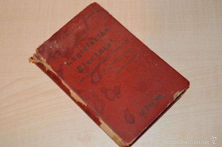 Libros antiguos: Revista de los Tribunales - Legislación Electoral - Editorial Gongora - Año 1933 - 5ª edición - Foto 5 - 57796245