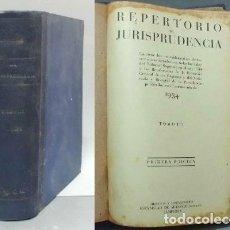 Libros antiguos: REPERTORIO DE JURISPRUDENCIA 1934. TOMO III. - DIRECCION: DE ARANZADI, ESTANISLAO.- A-DE-584.. Lote 114571767