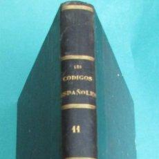 Libros antiguos: LOS CÓDIGOS ESPAÑOLES. CONCORDADOS Y ANOTADOS. TOMO II. 1850. HOLANDESA. 446 PÁGINAS. 28,5 X 21 CM.I. Lote 114776783