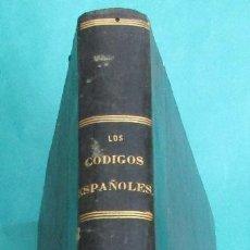 Libros antiguos: LOS CÓDIGOS ESPAÑOLES. CONCORDADOS Y ANOTADOS. TOMO 10. 1850. HOLANDESA. 496 PÁGINAS. 28,5 X 21 CM.. Lote 114777819