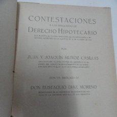 Libros antiguos: TEMARIO DE DERECHO HIPOTECARIO - JUAN Y JOAQUÍN MUÑOZ CASILLAS 1921. Lote 114627495