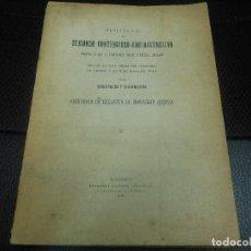 Libros antiguos: 1916 FOLLETO DE MONNEGRE JIJONA - ORDENANZAS Y REGLAMENTOS PROYECTO DE DEMANDA DE REGANTES ALICANTE. Lote 122187027