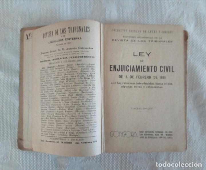 Libros antiguos: ENJUICIAMIENTO CIVIL - ED. GONGORA - MADRID 1881. - Foto 4 - 115502455