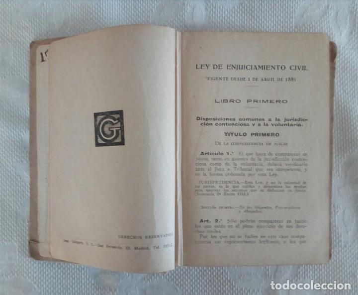 Libros antiguos: ENJUICIAMIENTO CIVIL - ED. GONGORA - MADRID 1881. - Foto 5 - 115502455