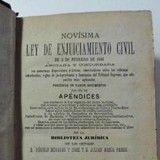 Libros antiguos: LEY DE ENJUICIAMIENTO CIVIL DE 3 DE FEBRERO DE 1881. Lote 115858623
