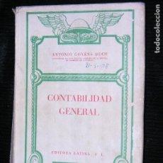Libros antiguos: F1 CONTABILIDAD GENERAL.ANTONIO GOCHENS DUCH CATEDRATICO DE CONTABILIDAD. Lote 116312903