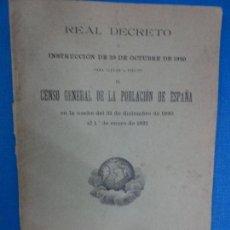 Libros antiguos: CENSO GENERAL DE LA POBLACION DE ESPAÑA. Lote 116469379