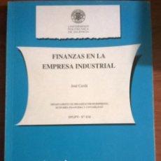 Libros antiguos: 599-FINANZAS EN LA EMPRESA INDUSTRIAL-CERDÁ, J. Lote 55038327