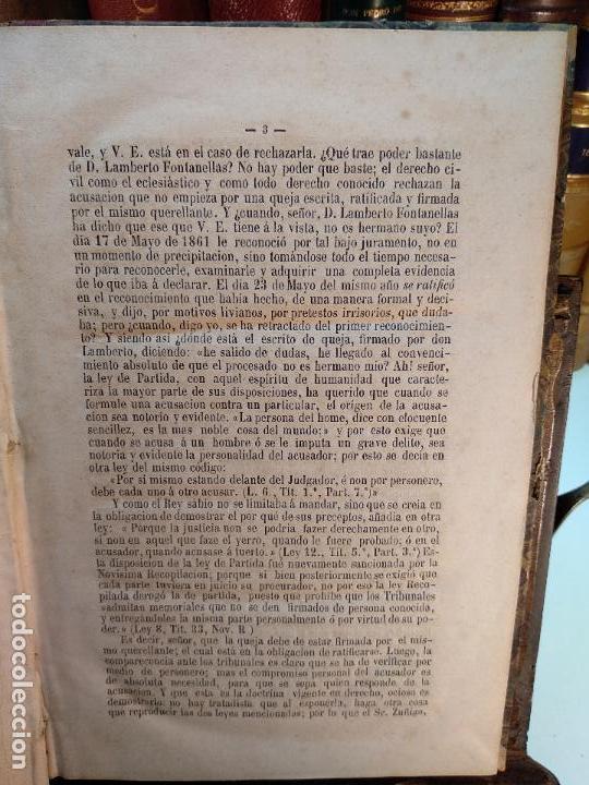 Libros antiguos: DISCURSOS PRONUNCIADOS EN DEFENSA DE D. CLAUDIO FONTANELLAS - D. JOSÉ INDALECIO CASO - CIRCA 1860 - - Foto 4 - 116902107