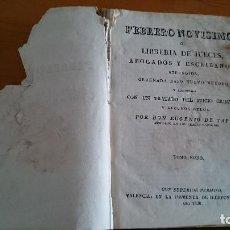 Libros antiguos: FEBRERO NOVÍSIMO O LIBRERÍA DE JUECES ABOGADOS... EUGENIO DE TAPIA - TOMO NONO - VALENCIA 1830. Lote 116953783
