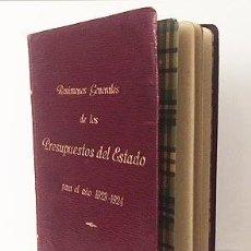 Libros antiguos: PRESUPUESTOS DEL ESTADO PARA EL AÑO 1923-1924. (PLENA PIEL CON TITULOS DORADOS. ECONOMIA. Lote 117030747